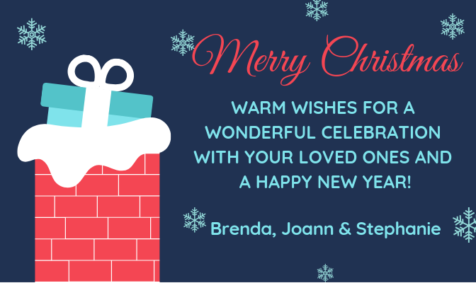 Warm Wishes for a Wonderful Holiday Season!