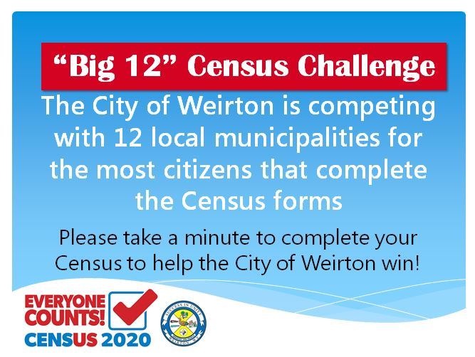 Support Weirton with the 2020 Census!